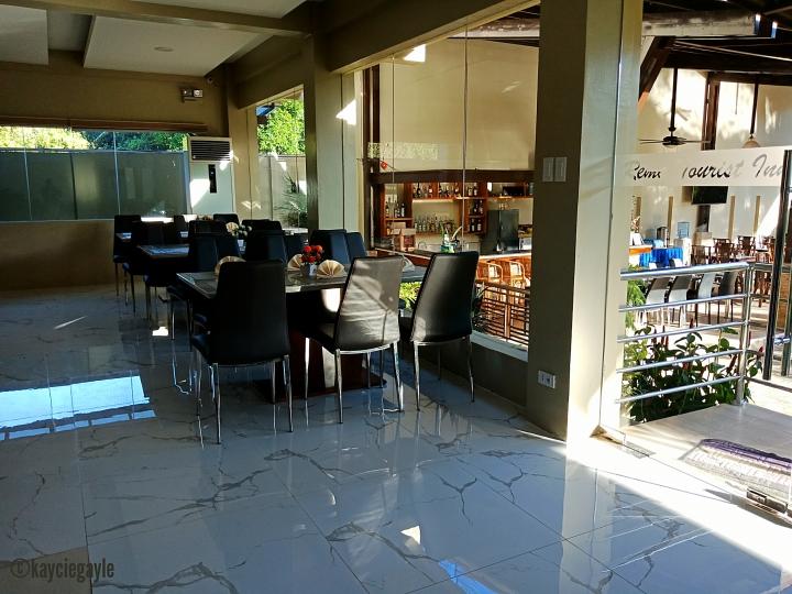 indoor dining area -  rema tourist inn - palawan misswoman.co