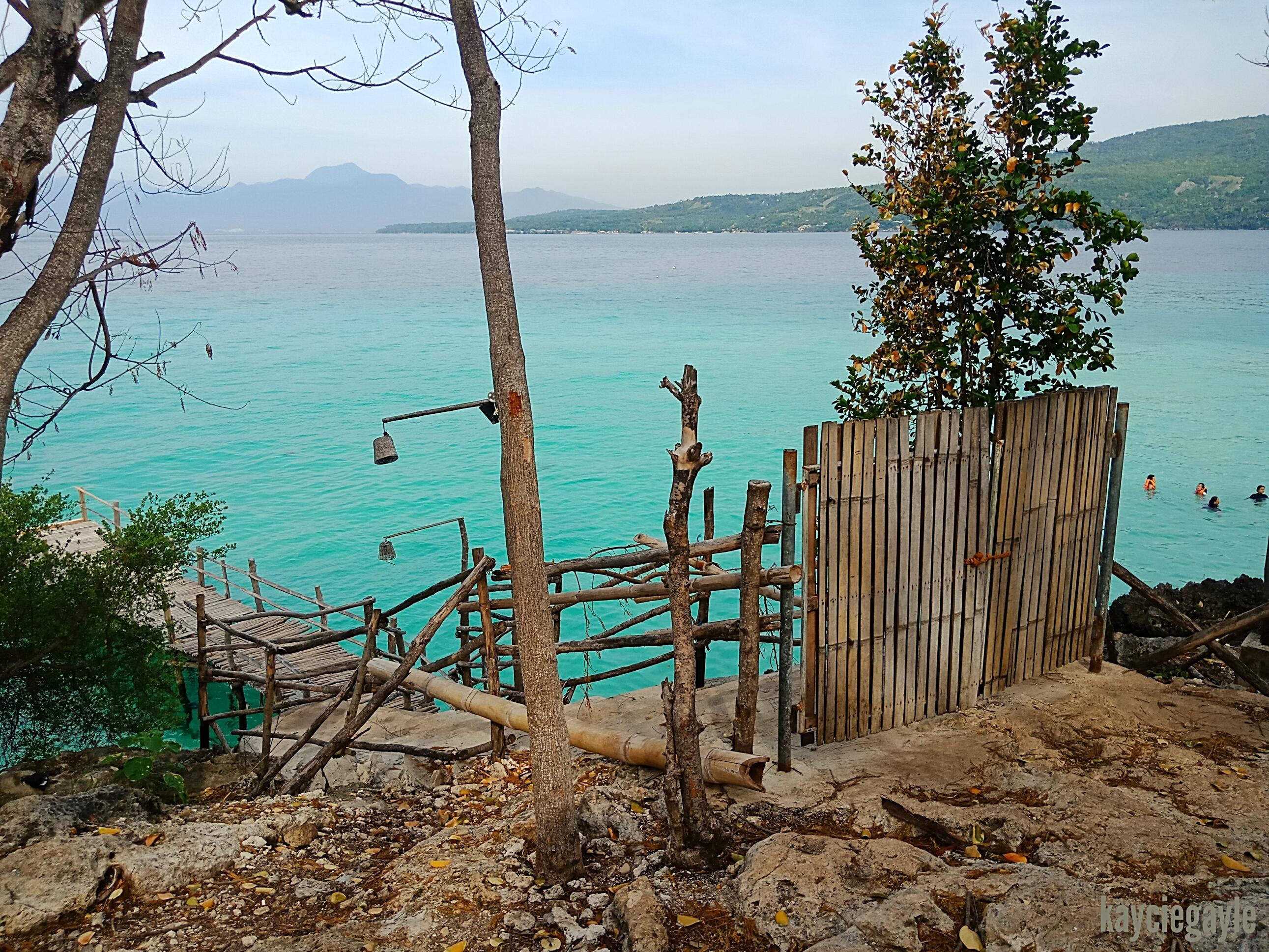 Sumilon Island in Oslob Cebu bamboo jetty and gate
