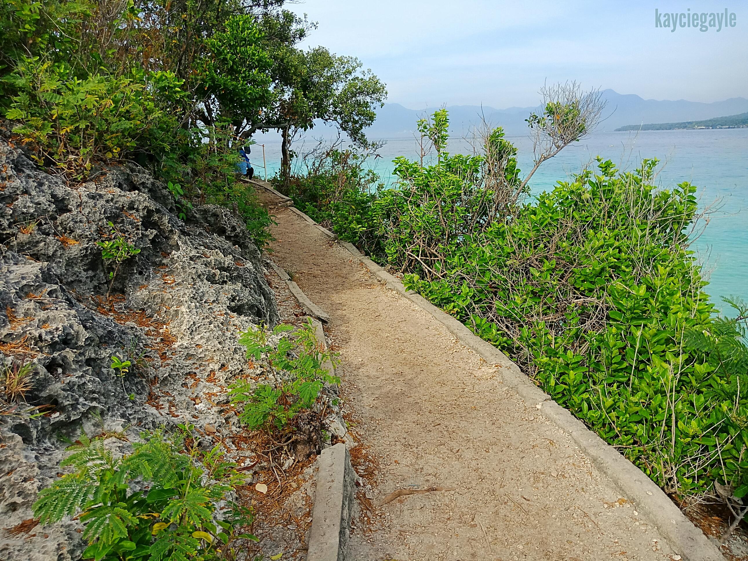island's pathway