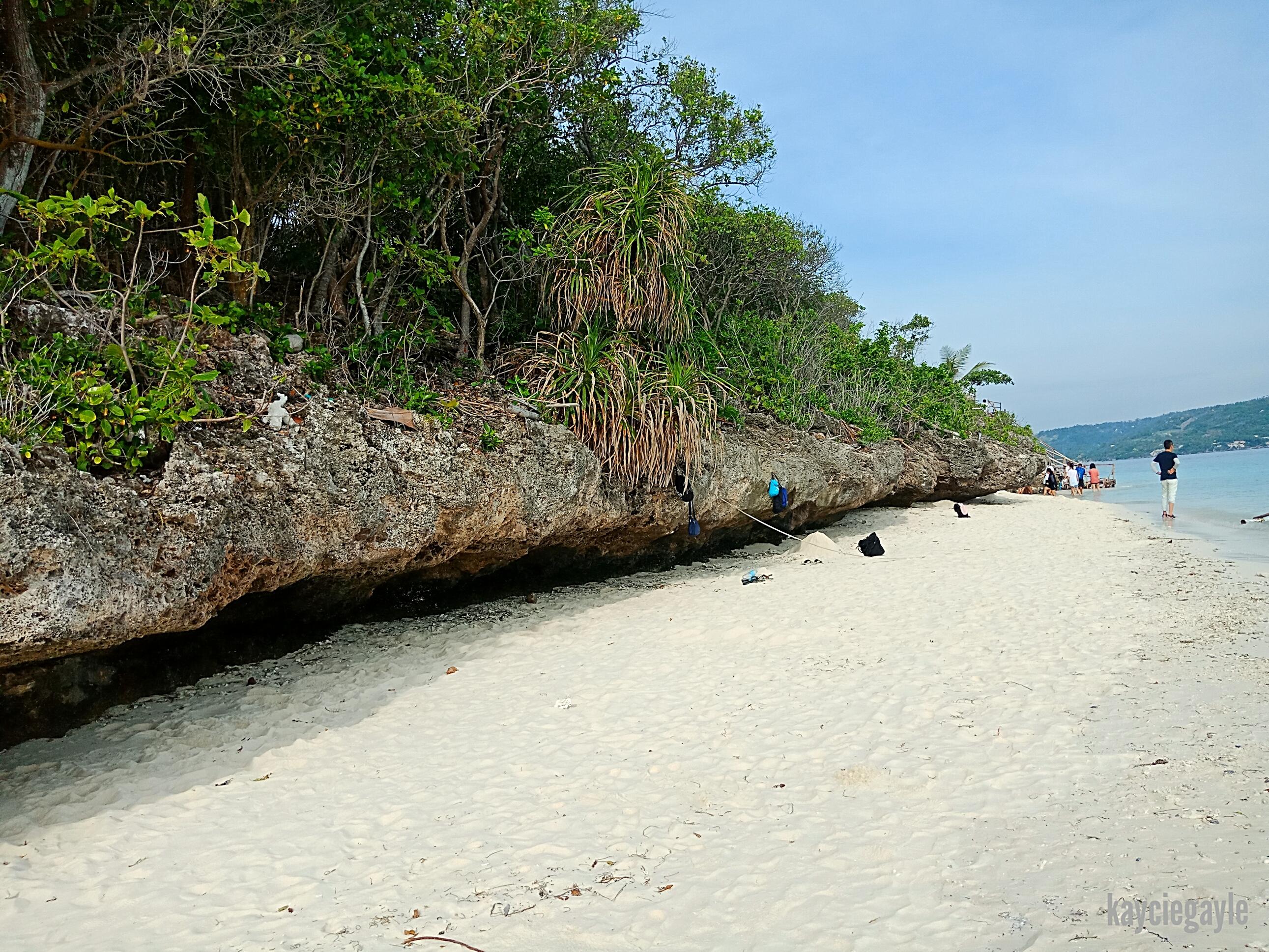 Sumilon Island in Oslob Cebu White sand on the island