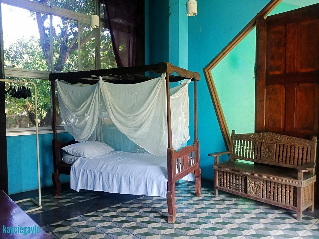 Hacienda Tour at Prado Farm Lubao Pampanga blue house second floor bridal room four poster bed