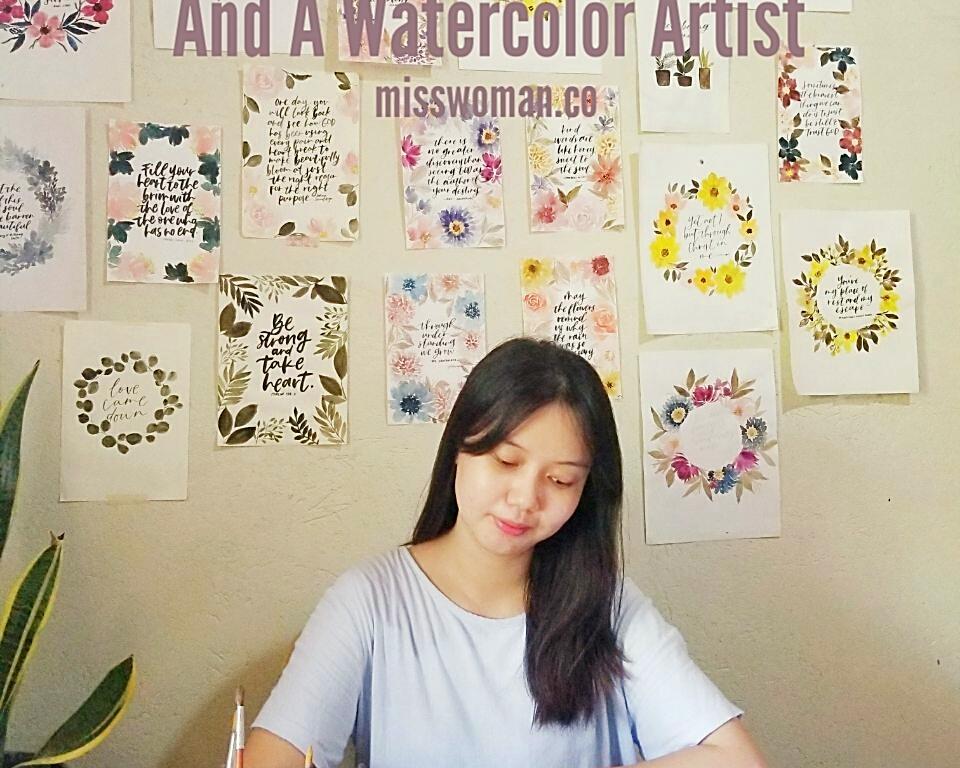 Queenie Dungo qletters calligrapher watercolor artist