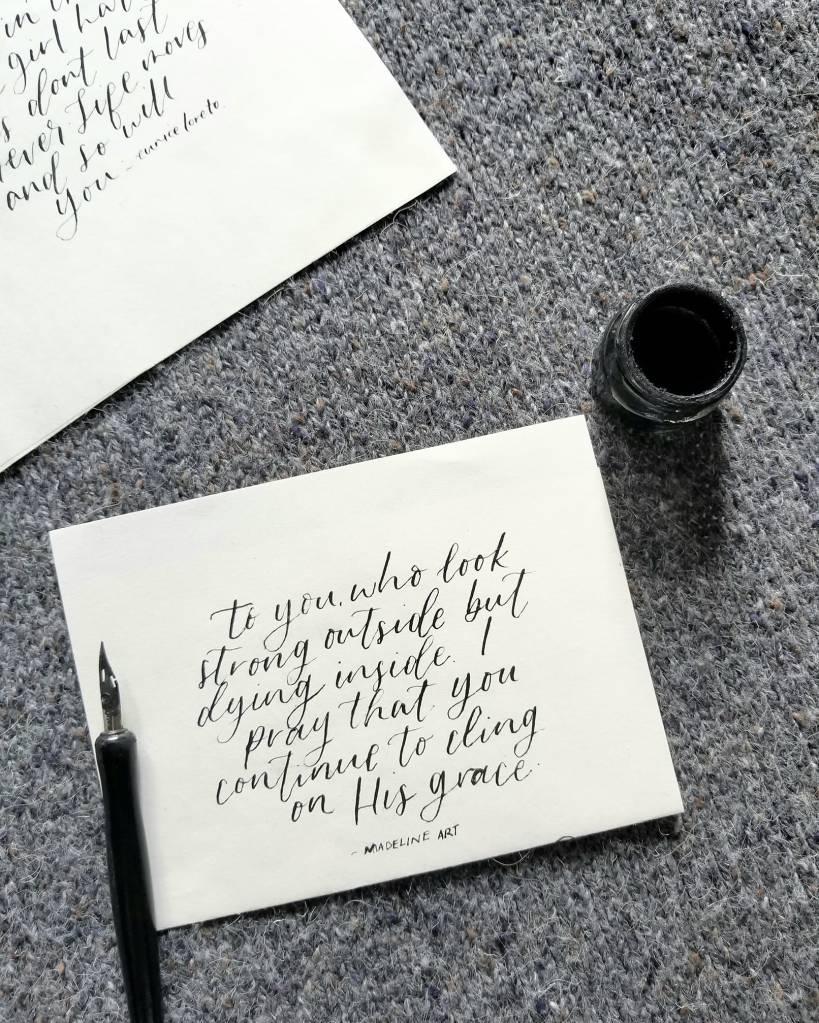 encouraging quote calligraphy